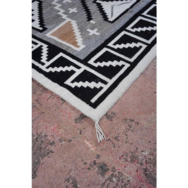 "Vintage 1920s Navajo Geometric Rug - 3′6″ x 73"" - Image 5 of 11"