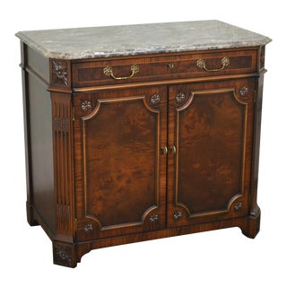 Regency Style Mahogany Marble Top Server Cabinet