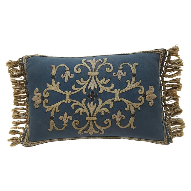 French Embroidered Pillow - Image 1 of 3