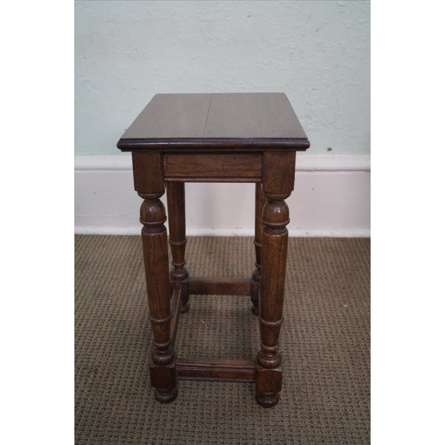 Set Of 2 Square Design Nesting Coffee Tables Made Of Black: Ethan Allen Royal Charter Nesting Tables -Set Of 3