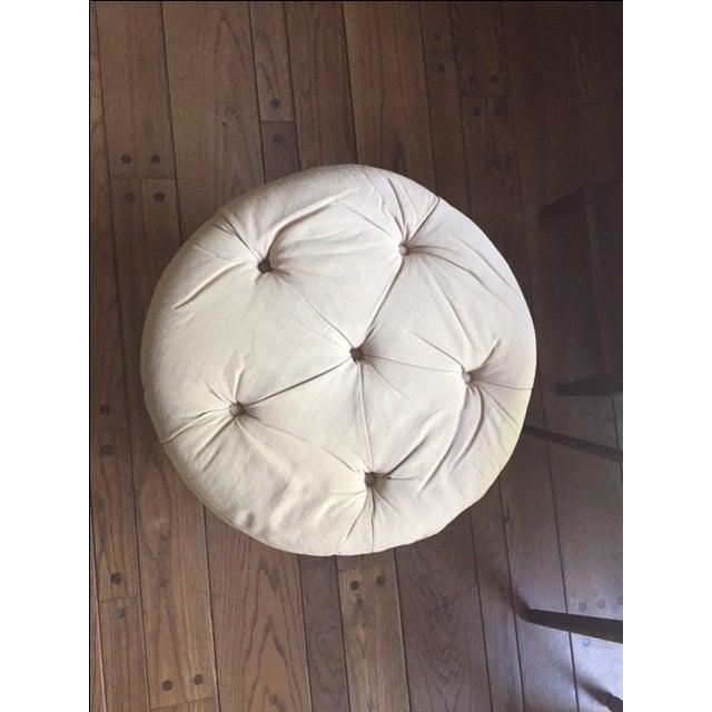 Round Fabric Ottoman - Image 3 of 8