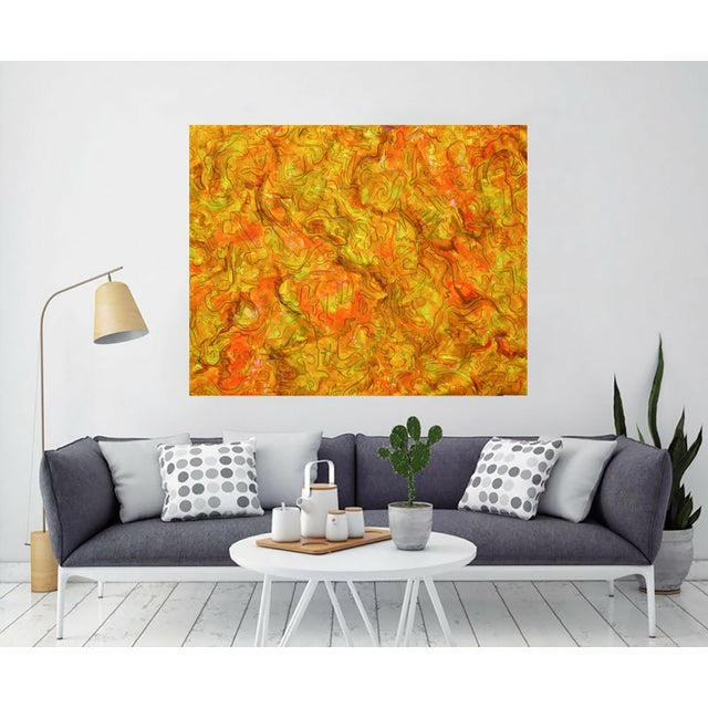 """Inside Amber"" Large Abstract Painting by Trixie Pitts - Image 2 of 4"