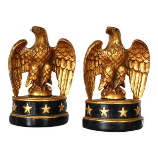 1940s Vintage Federal Eagle Bookends - a Pair