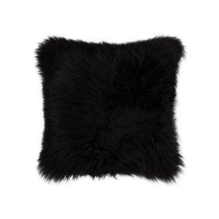 Black Sheepskin Pillow