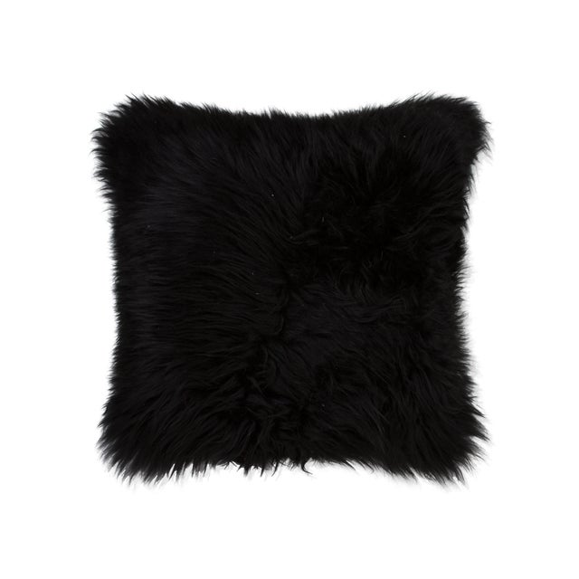 Image of Black Sheepskin Pillow