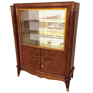 Jules Leleu Style French Art Deco Vitrine or Display Cabinet