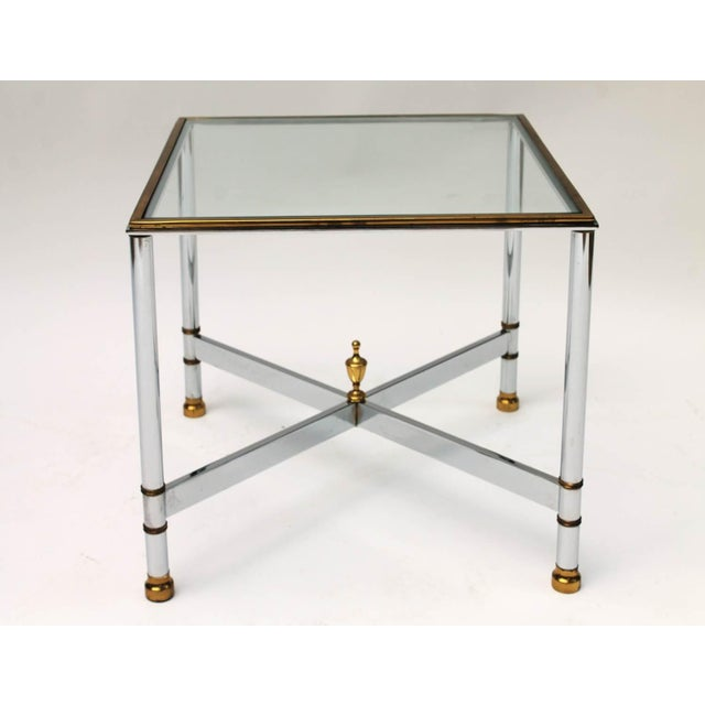 Image of Petite Brass & Steel Side Table