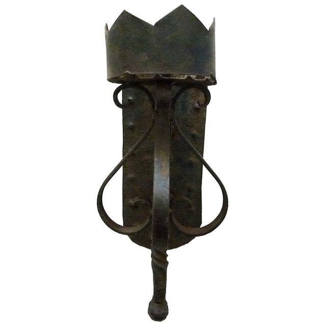 1920s Wrought Iron Torchere - Image 3 of 3