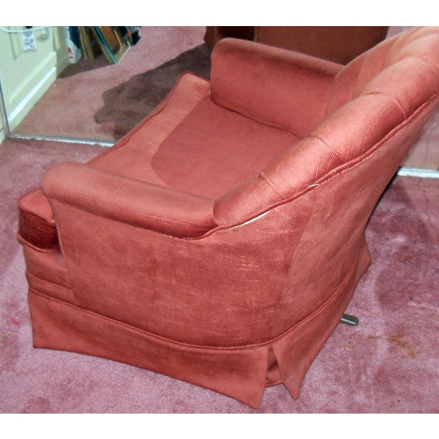 Image of Mid Century Fairfield Club Chair, Rust Color - 2