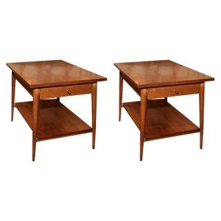 Paul McCobb Single Drawer Lamp Tables - a Pair