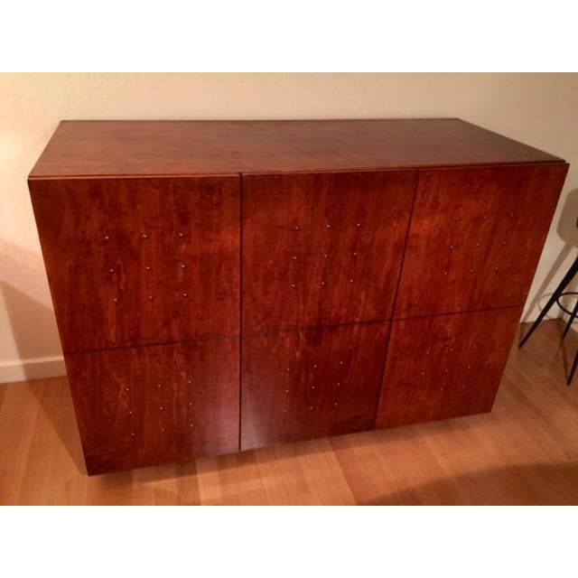 Image of Contemporary Wood Armoire Credenza