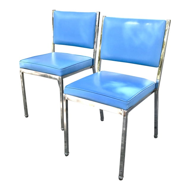 Mid-Century Modern Rare InterRoyal Steelcase Chairs - A Pair - Image 1 of 4