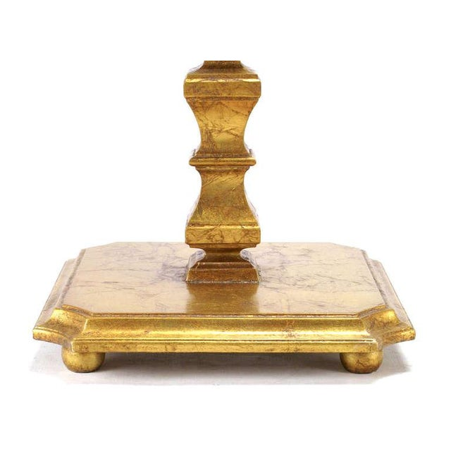 Pair of Italian Gilt Wood & Canted Corner Glass Top Tables - Image 3 of 5