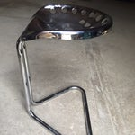 Image of Chrome Cantilever Tractor Stools - A Pair