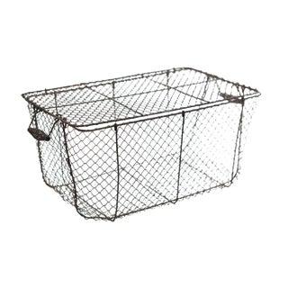 Woven Wire Lidded Basket