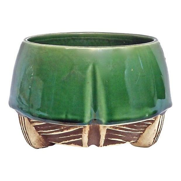 art deco mccoy ceramic cachepot chairish. Black Bedroom Furniture Sets. Home Design Ideas