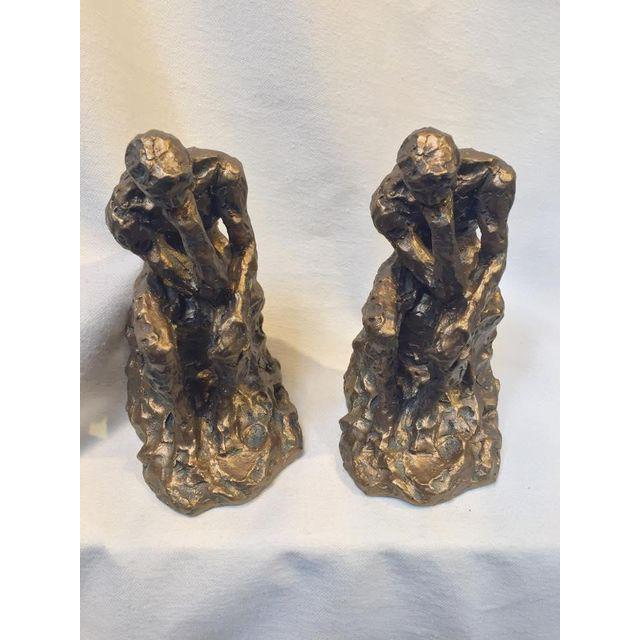 Brutalist Thinking Man Bookends- A Pair - Image 5 of 5