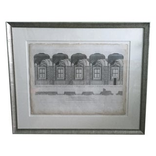 Linen Architectural Print of Oxford University
