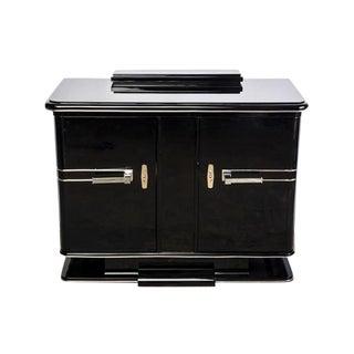 Black Lacquer Art Deco Credenza