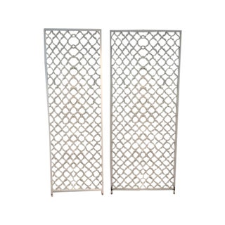 Mid-Century Metal Wall Divider Screens - A Pair