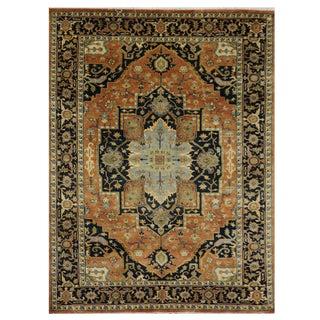 Indian Heriz Serapi Design - 6′ × 8′7″