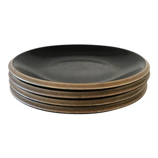 Dansk Santiago Black & Tan Side Plates - Set of 4