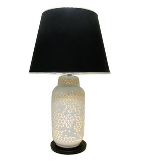 Mid-Century Blanc De Chine White Porcelain Lamp