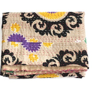 Kantha Suzani Throw - A Full