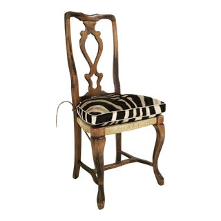 Provincial Side Chair with Zebra Cushion