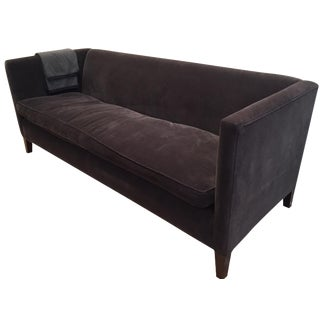Montauk Gray Velvet Kate Sofa