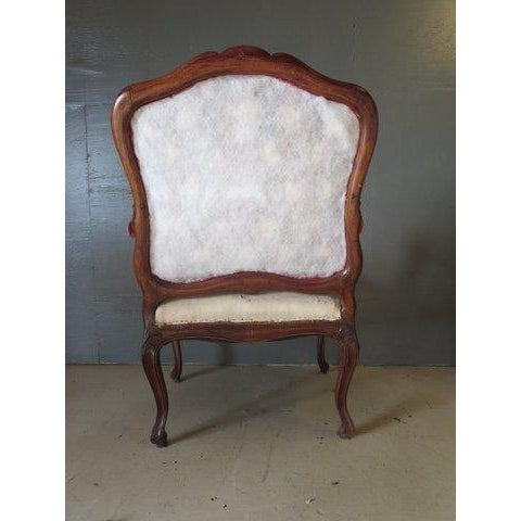 Antique 1900s Louis XV Large Scale Armchair - Image 9 of 9