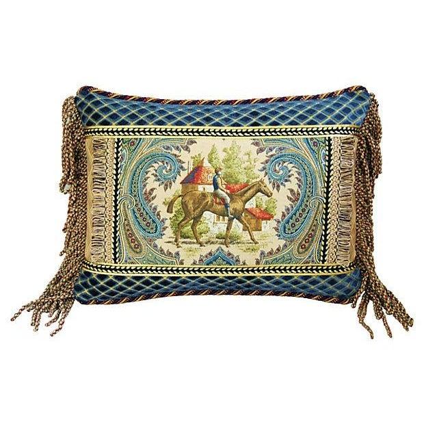 Custom Kaufmann Equinox Equestrian Pillow - Image 4 of 4