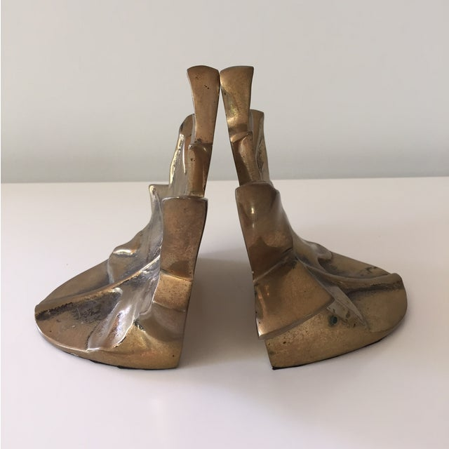 Brass Leaf Bookends - Image 4 of 5