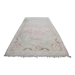 "Vintage Muted Turkish Oriental Rug Carpet - 10'11"" x 6'7"""