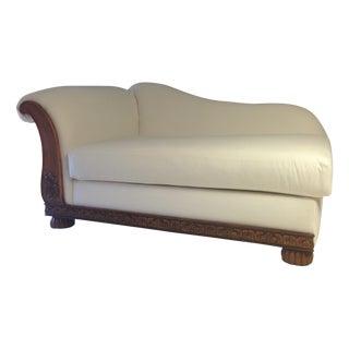 White Velvet Chaise Lounge Chair