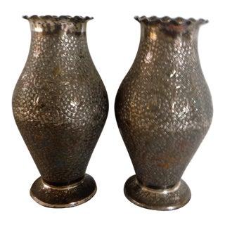 "Vintage ""Paktong"" Vases - A Pair"