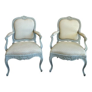 Pair of Rococo Style Swedish Armchairs (#42-67)