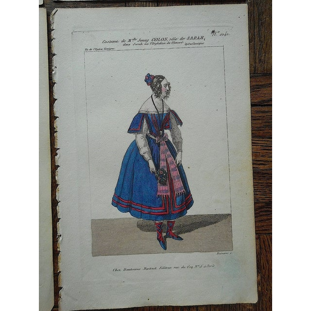 Four Antique French Theater/Costume Prints - Image 6 of 6