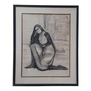 Woman Kneeling Framed Art