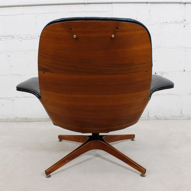 MCM Mulhauser Molded Wood Lounge Chair & Ottoman - Image 9 of 10