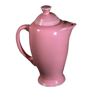 Vintage Fiestaware Coffee Serving Pot in Rose Pink