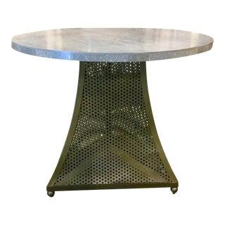 Knox Warren Concrete & Metal Round End Table