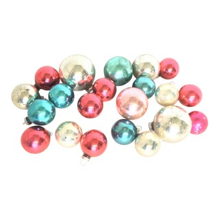 Mid Century Blown Glass Ornaments - Set of 21