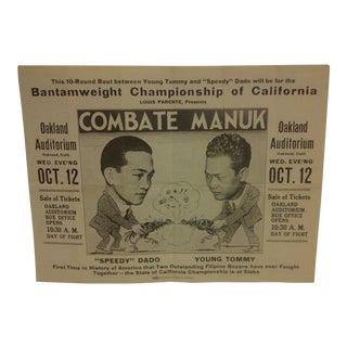 1933 Filipino Boxing Poster