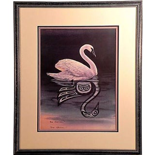 Swan Lithograph by Sue Coleman