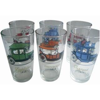 Hazel Atlas Automobile Cocktail Glasses - Set of 6