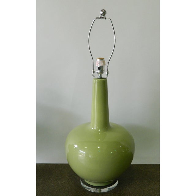 Green Porcelain Table Lamp - Image 2 of 5