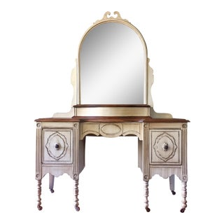 Antique White Make Up Vanity & Mirror