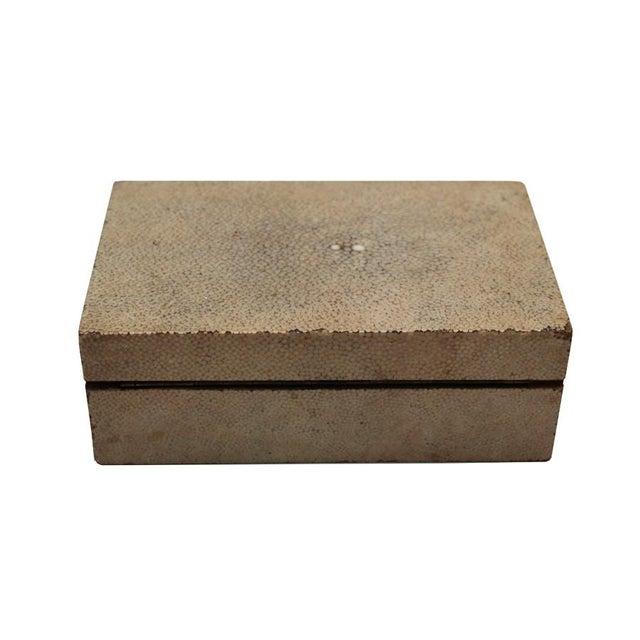 Image of Antique Shagreen Box w/ Ivory Handle C. 1800s