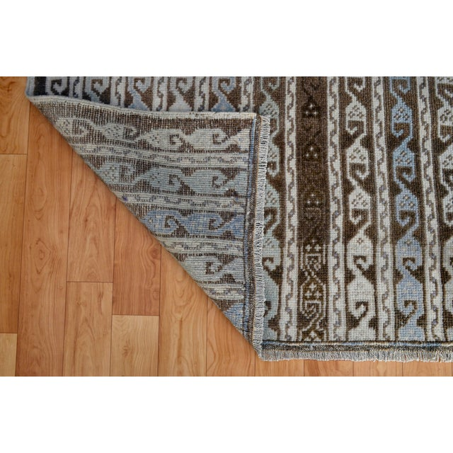Image of Turkish Hand-Knotted Oushak Runner Rug - 3' X 7'